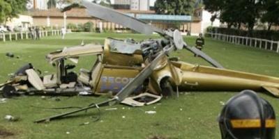 Un helicóptero de la red televisiva brasileña Record se cayó hoy en San Pablo