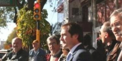 Intendentecapitalino activóel semáforo de 3 de Abril y Tucumán