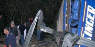 Tres muertos y 20 heridos al chocar un ómnibus y un camión en la ruta 14