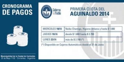La Municipalidad de Corrientes pagará aguinaldo desde el próximo 18 de junio